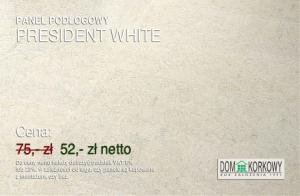 Panel podłogowy korkowy President White