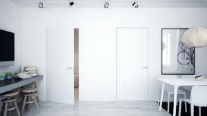 Drzwi z ościeżnicą wbudowaną w ścianę - Sara Eco