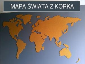 Mapa świata z korka