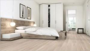 Drewniana podłoga do sypialni