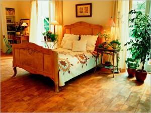 Piękna korkowa podłoga do sypialni