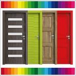 Drzwi w kolorze