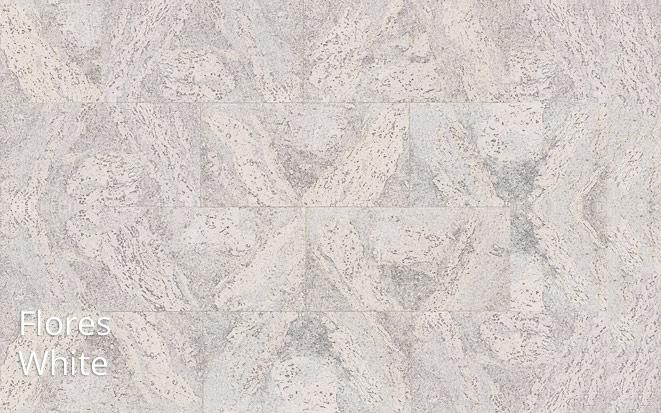 Ściana korkowa bielona Flores White