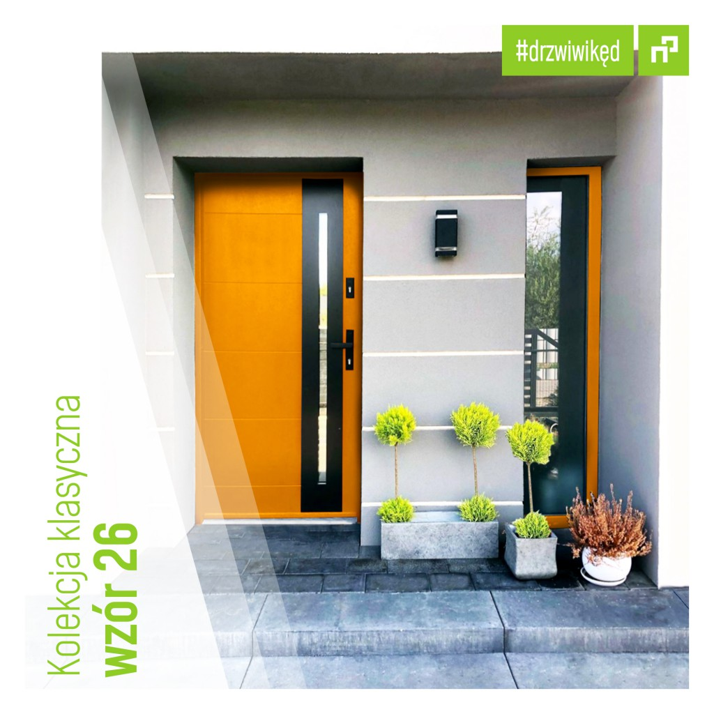 Drzwi Wikęd w dowolnym kolorze RAL